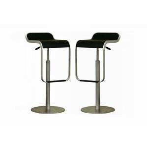Baxton Studio Adjustable Height Swivel Bar Stool (Set of 2) by Wholesale Interiors