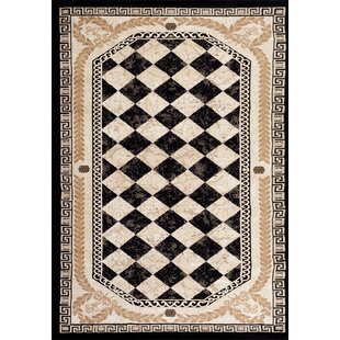 Compare & Buy Greek Black Area Rug By Persian-rugs
