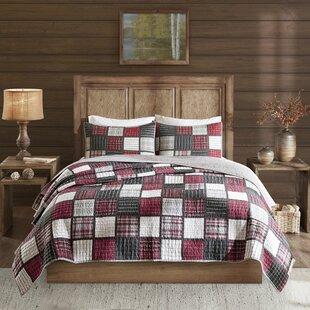 Tulsa Plaid Print Cotton Quilt Set