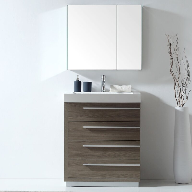 Copher 29 Single Bathroom Vanity Set With Mirror