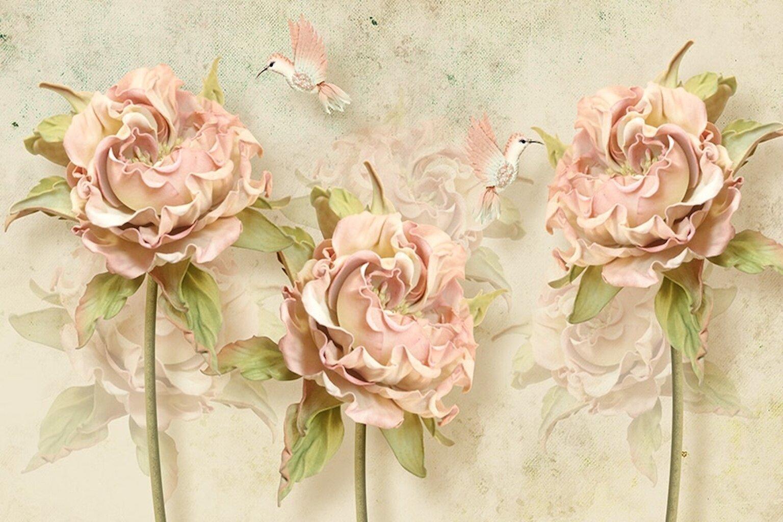 Ophelia Co Auten 3d Flower Roses Wall Mural Wayfair