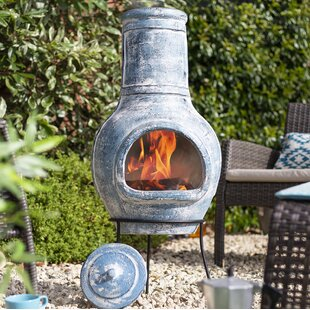 Breanna Clay Wood Burning Chiminea By Sol 72 Outdoor