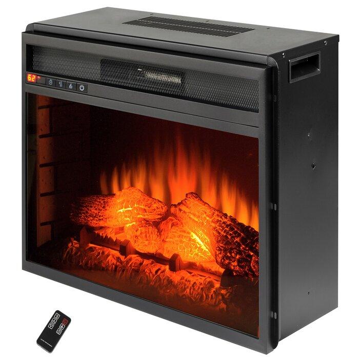 on log flame embedded insert com inserts l mccmatricschool refurbished custom heater fireplace electric