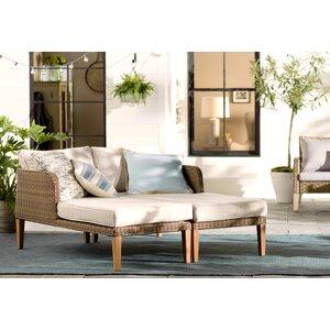 Nashville 2 Piece Lounge Chair Set with Cushion