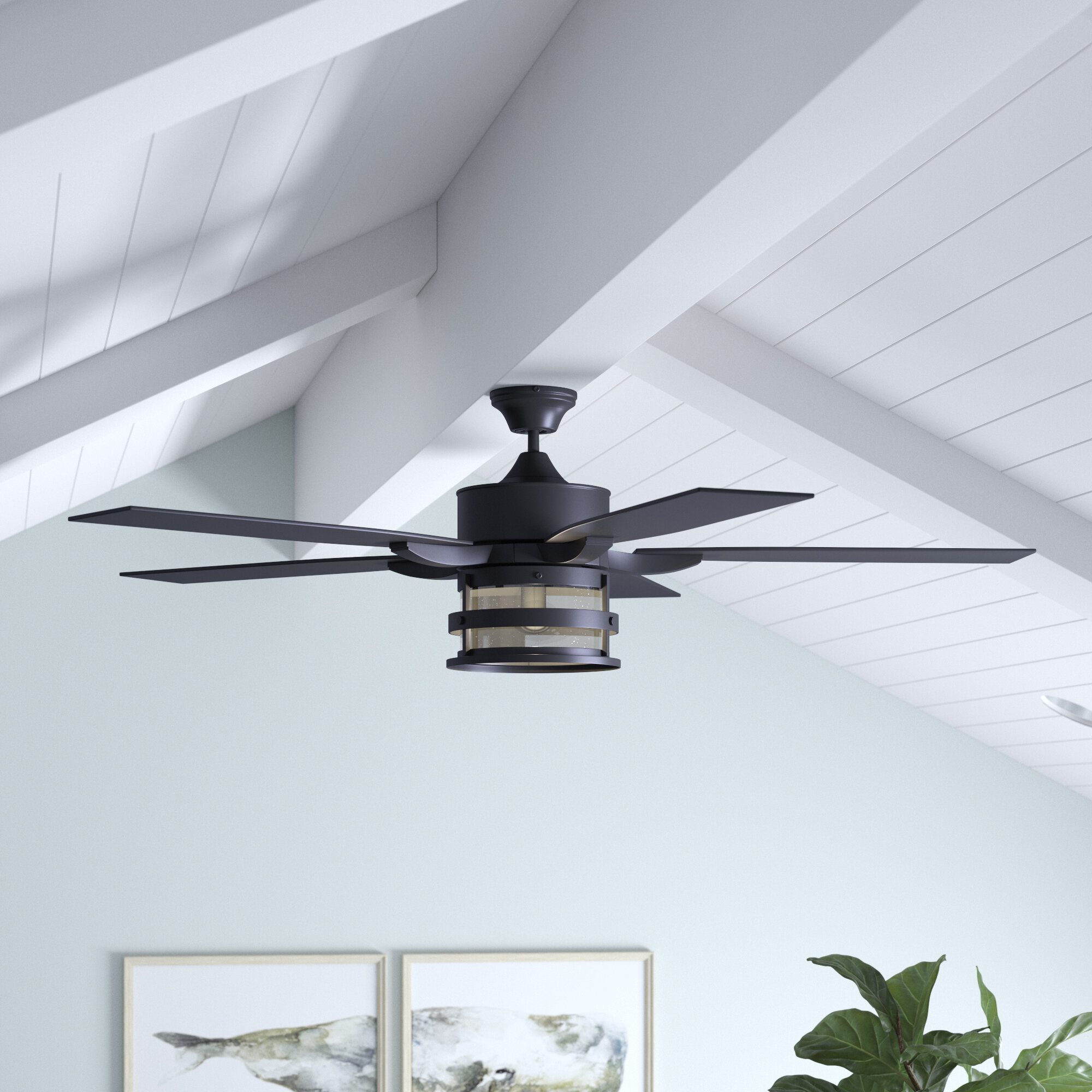 Breakwater Bay 52 Wilhite 5 Blade Standard Ceiling Fan With Remote Control And Light Kit Included Reviews Wayfair