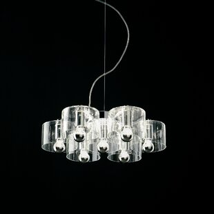Oluce Fiore 7-Light Shaded Chandelier