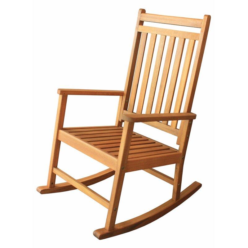Charming Titouan Hardwood Rocking Chair