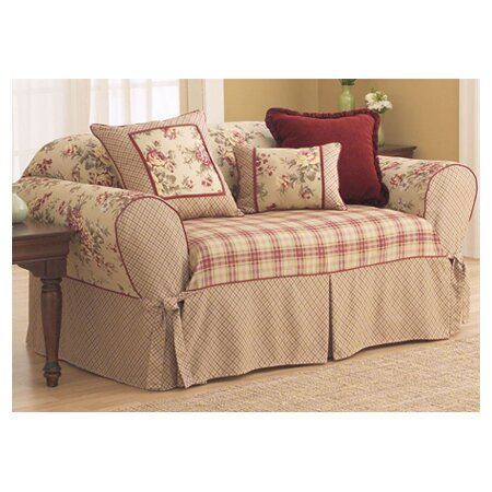 Elegant Lexington Box Cushion Sofa Slipcover