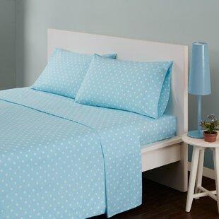 Ebern Designs Glaude Polka Dot 180 Thread Count Cotton Sheet Set