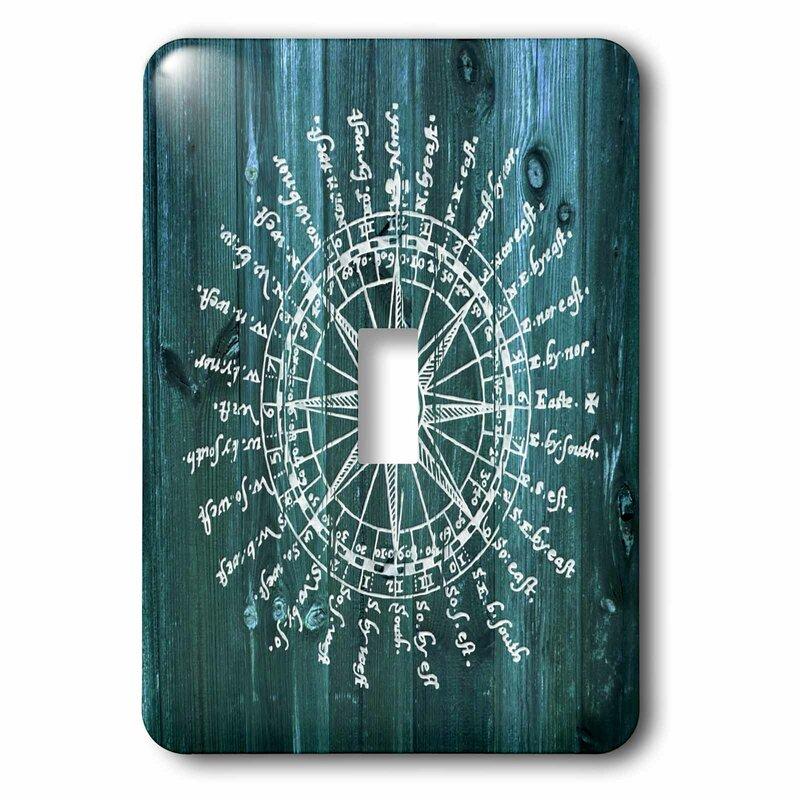 3drose Antique Nautical Compass 1 Gang Toggle Light Switch Wall Plate Wayfair