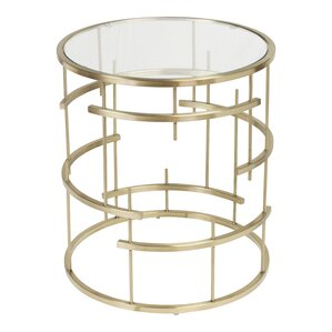 Esme Brushed End Table by Design Tree Home