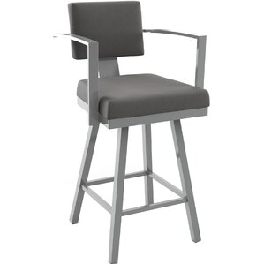Perrotta 26.75  Swivel Bar Stool  sc 1 st  AllModern : bar stools with arms and back - islam-shia.org