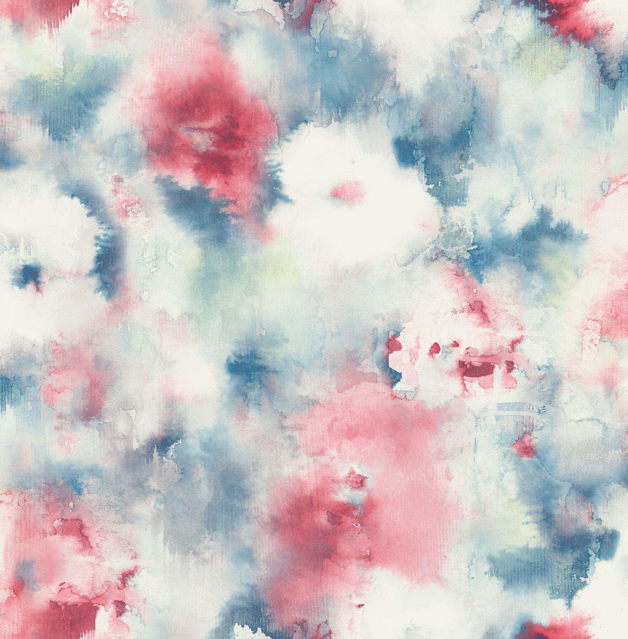 Latitude Run Yang Abstract Floral 32 81 L X 20 5 W Wallpaper