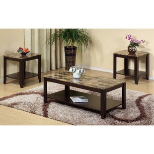 Schoemann Enchanting Spacious 3 Piece Coffee Table Set Red Barrel Studio