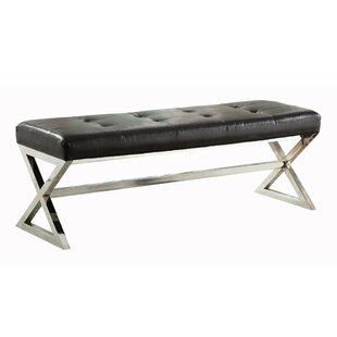 Soleiman Faux Leather Upholstered Bench