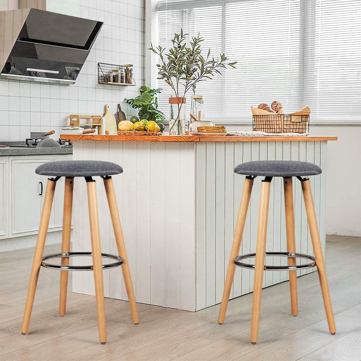 Norden Home Set of 9 bar stool counter stool round stool seat stool kitchen  stool