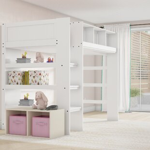 Gobeil Bunk Bed with Shelves