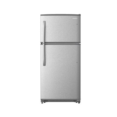 21 cu. ft. Top Freezer Refrigerator Daewoo Finish: Stainless Steel