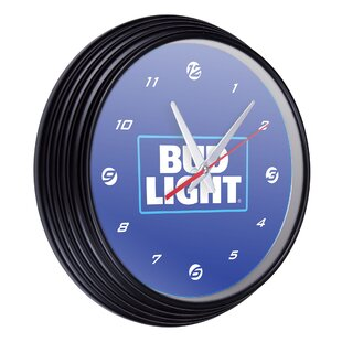 Bud Light Retro 15 Wall Clock by Trademark Global