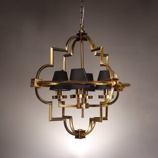 Lotus Arabesque 4-Light Geometric Chandelier