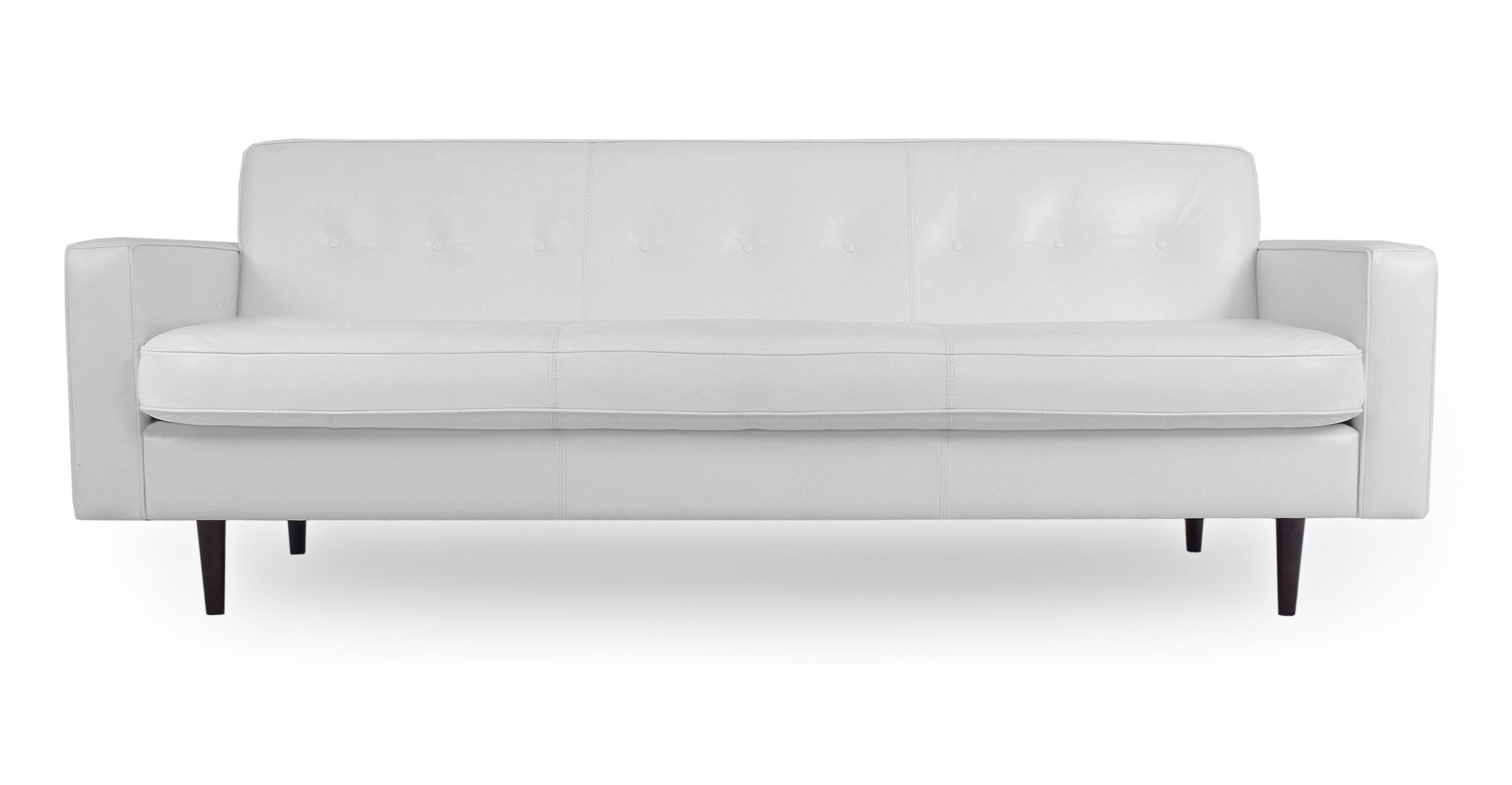 Mickey Mid-Century Leather Sofa