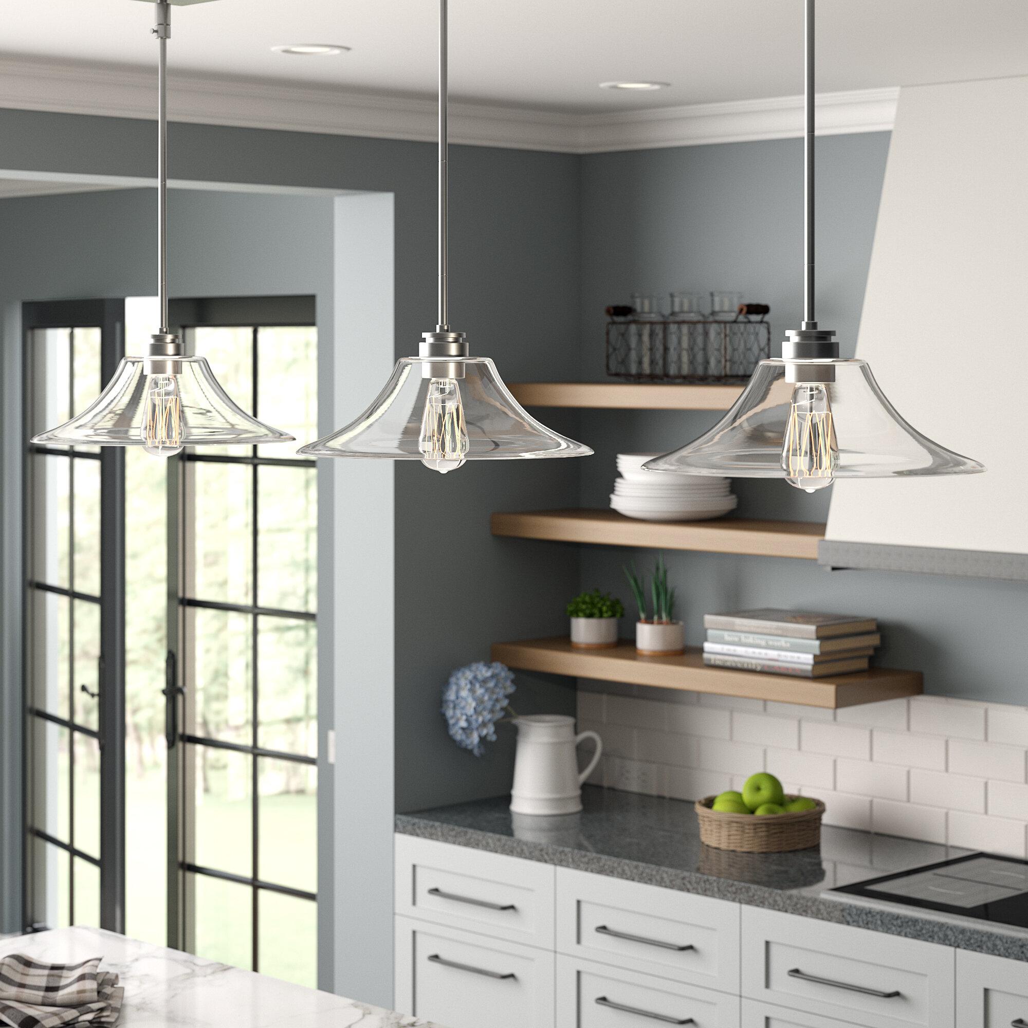 Laurel Foundry Modern Farmhouse Clayton 3 Light Kitchen Island Linear Pendant Reviews Wayfair