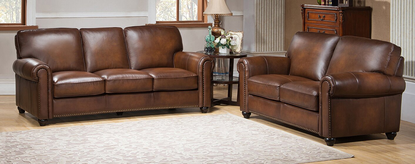 Amax Aspen 2 Piece Leather Living Room Set & Reviews | Wayfair