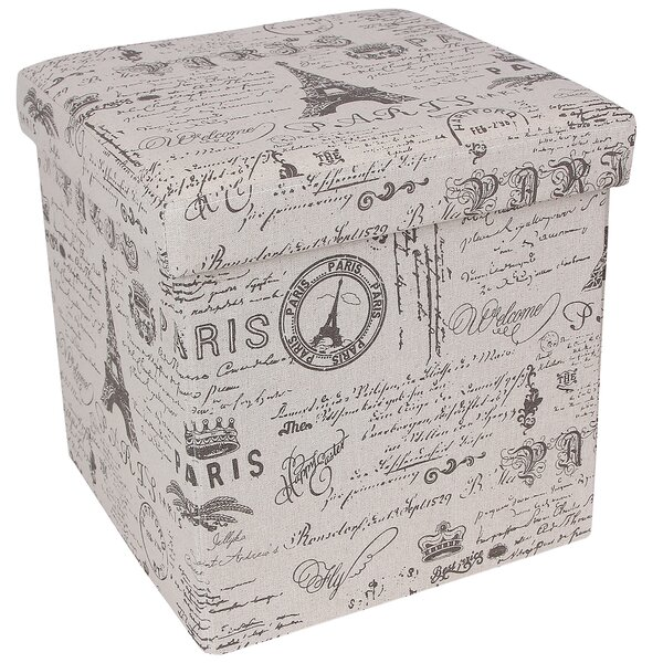 Songmics Paris Effiel Tower Storage Cube Ottoman U0026 Reviews | Wayfair