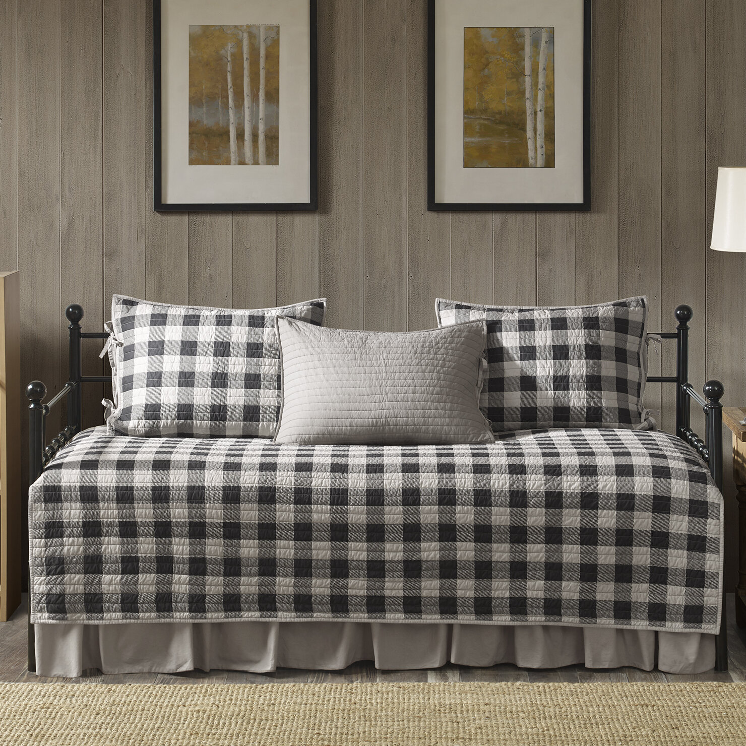 buffalo cabin western set redplcaqu red check comforter plaid quilt