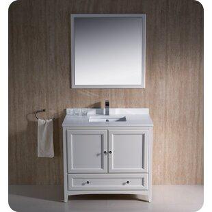 Oxford 36 Single Traditional Bathroom Vanity Set with Mirror