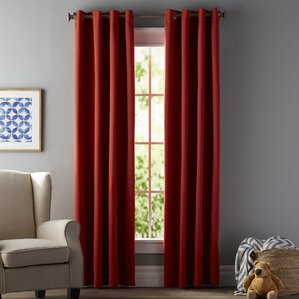 Superior Tamara Solid Blackout Thermal Grommet Curtain Panels (Set Of 2)