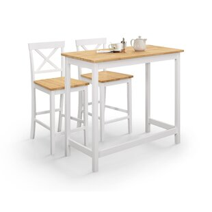 Gurnsey 3 Piece Pub Table Set By Beachcrest Home