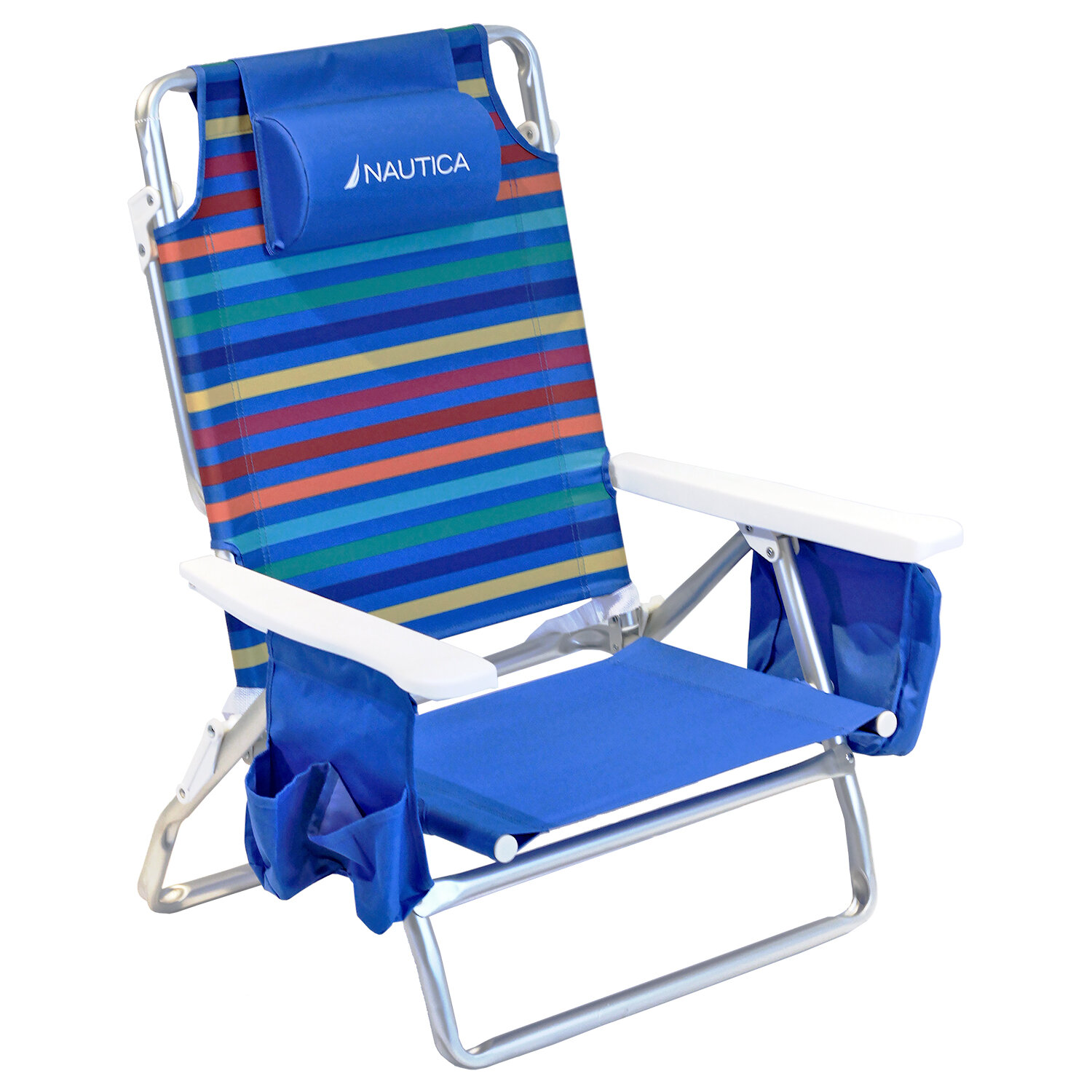 Nautica 5 Position Reclining/Folding Beach Chair U0026 Reviews | Wayfair