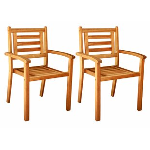 Three Posts Cadsden Stackable Arm Chair (..