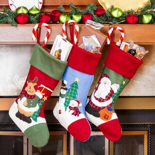 3 piece christmas stocking set set of 3 - Christmas Socks Decoration