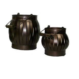 Essential D?cor and Beyond 2 Piece Iron Lantern Set by World Menagerie