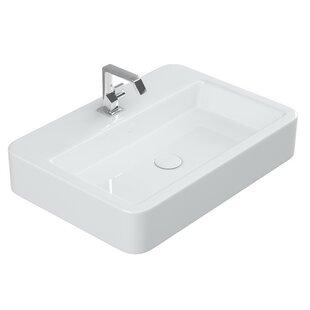 Top Reviews Contour Ceramic Rectangular Vessel Bathroom Sink ByWS Bath Collections