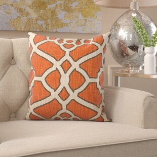 Kaison Fretwork Linen Throw Pillow