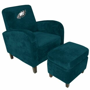 NFL Den Armchair and Ottoman