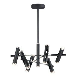 Special Ashton 6 Light Sputnik Modern Linear Chandelier By Millwood Pines Discount Price