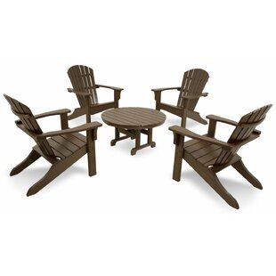 Artisan Shell Back 5-Piece Adirondack Conversation Set