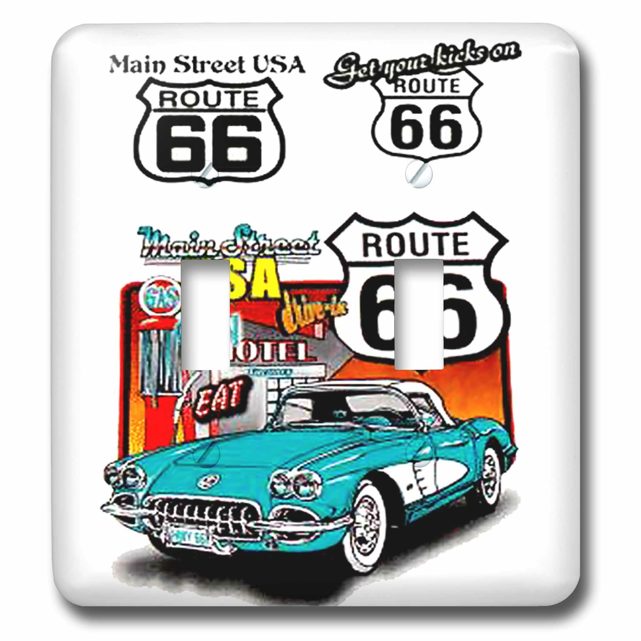 3drose Route 66 2 Gang Toggle Light Switch Wall Plate Wayfair