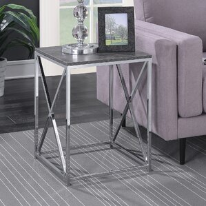 Carrollton Chrome End Table by Zipcode Design