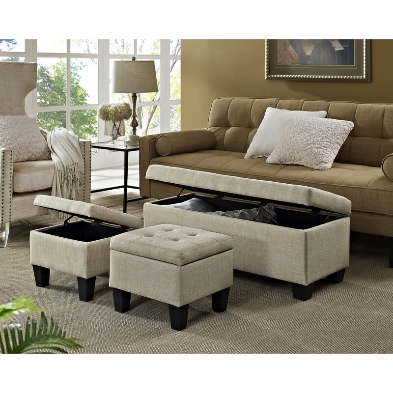 Phenomenal Hirsh 3 Piece Storage Ottoman Set Gmtry Best Dining Table And Chair Ideas Images Gmtryco