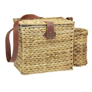 Banana Leaf Wine Caddy Picnic Basket
