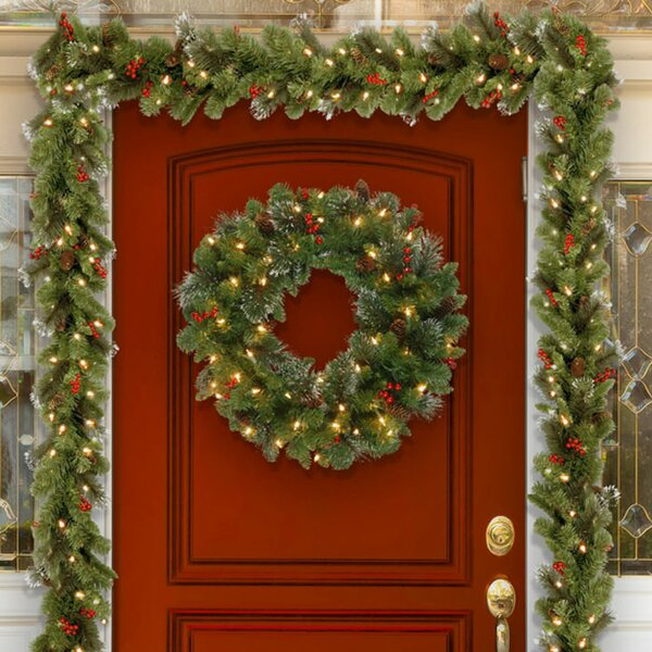 christmas wreaths and christmas garlands youll love wayfair