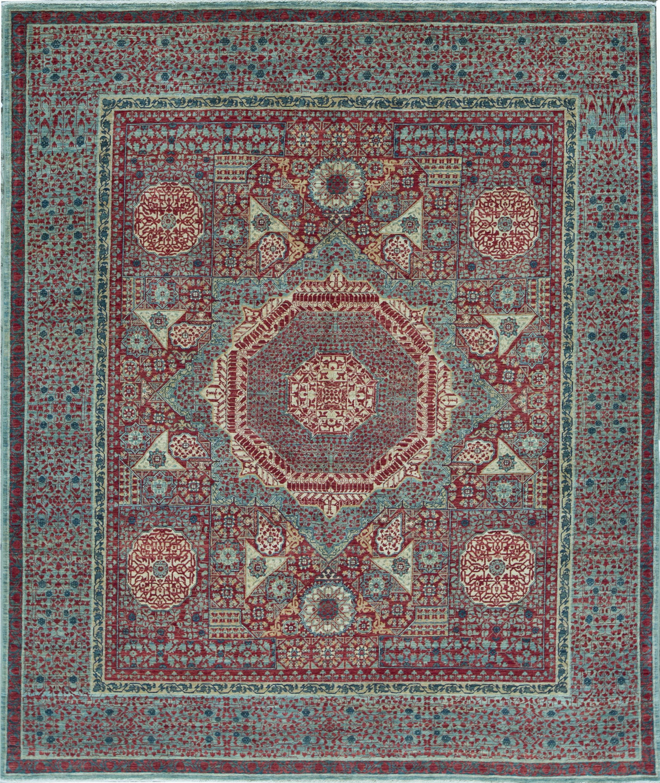 Bokara Rug Co Inc Mamluk Oriental Hand Knotted Wool Red Light Green Area Rug Wayfair