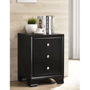 Deasia 3 Drawer Nightstand by Charlton Home