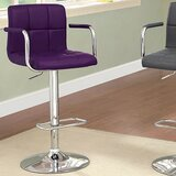 Paisleigh Swivel Upholstered Adjustable Height Stool by Orren Ellis