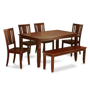 Sisneros 6 Piece Solid Wood Dining Set